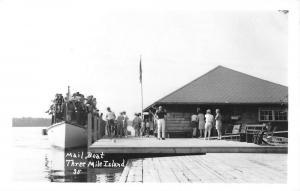 Three Mile Island Pennsylvania Mail Boat Real Photo Antique Postcard K85759