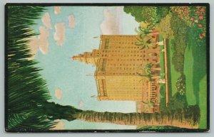 Miami Florida~Hotel Everglades And Grounds~Vintage Postcard