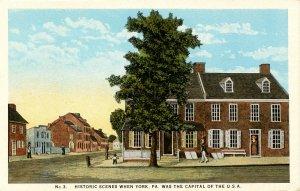 PA - York. Historic Scenes when York was USA Capital