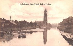 Boston United Kingdom, Great Britain, England St Botolph's from Grand Sluice ...