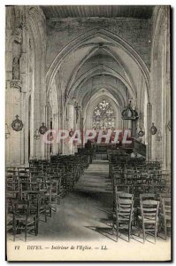 Old Postcard Dives Interior of The Church