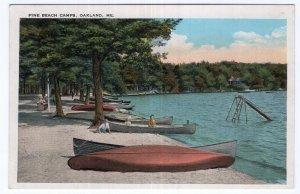 Oakland, Me, Pine Beach Camps