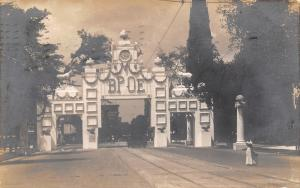 Detroit Michigan~11:00 AM on Ornate BPOE Elks Archway Clock~Postcard RPPC 1910