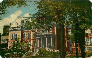 Sherbrooke Quebec~Court House~Palais de Justice~1940s Postcard
