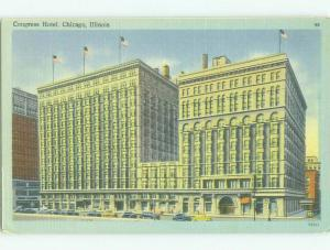 Unused Linen CONGRESS HOTEL Chicago Illinois IL hr7956