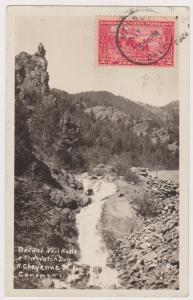 RP; 1924; Bridal Veil Falls & The Watch Dog, North Cheyenne Canon, Colorado Spri