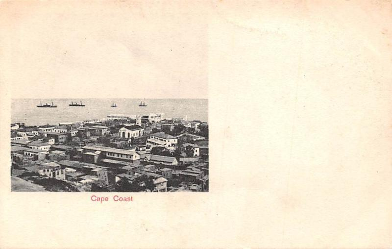 Ghana Gold Coast Cape Coast panorama postcard