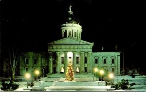 Vermont Monpelier State Capitol Building At Night