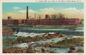 ROCKY MOUNT ,  North Carolina , 1910-30s ; Cotton Mill and Falls on Tar River