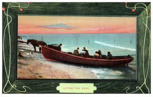 21323  Fishermen in Dory bringing in the Haul
