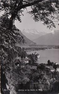 Switzerland Chillon et les Dents du Midi 1940 Photo