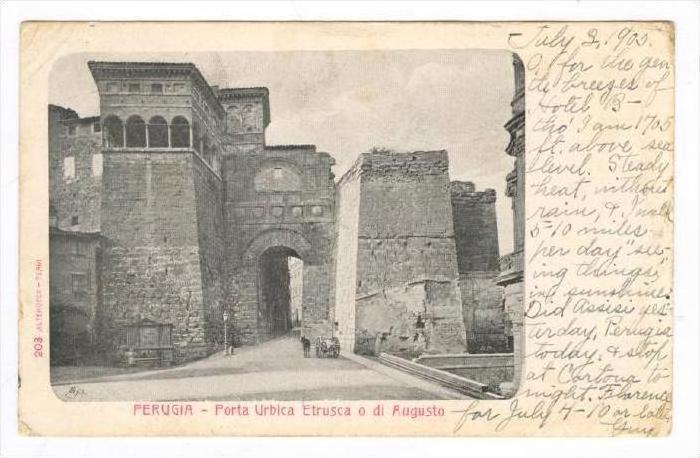 PERUGIA , Italy , PU-1905   Porta Urbica Etrusca o di Augusto