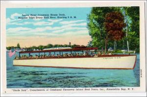 NY - Alexandria Bay. Leaving Hotel Crossman House Dock, 1000 Islands