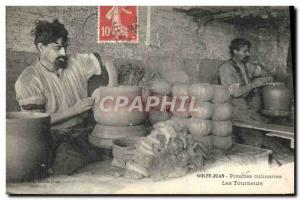Old Postcard Pottery Ceramic Pottery Golfe Juan culinary turners TOP
