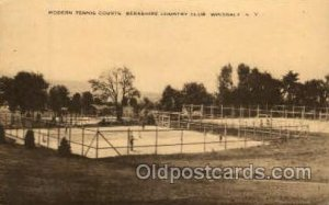 Berkshire Country Club, Wingdale, N.Y., USA Tennis Unused crease near top edg...