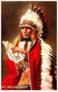 American Indian  Tall Man Dan Sioux Reproduction