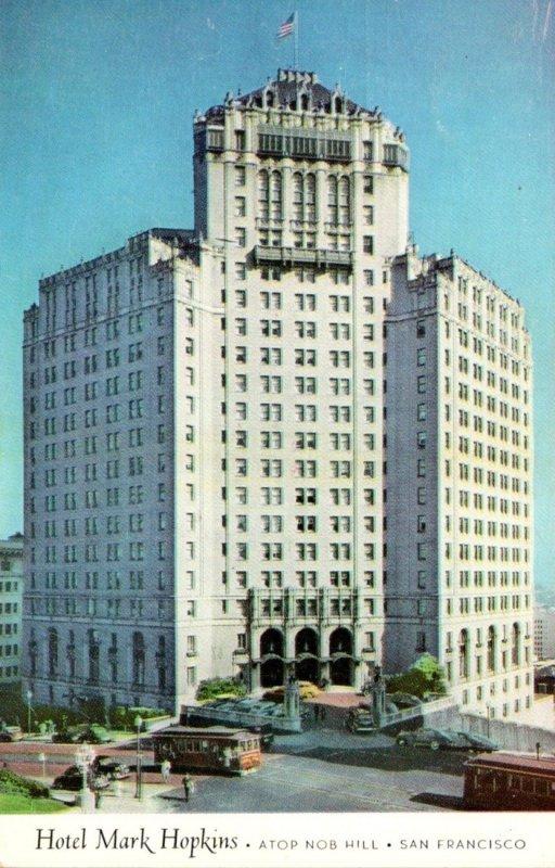 California San Francisco Mark Hopkins Hotel