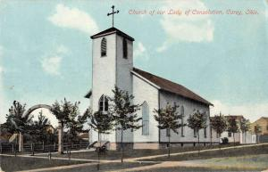 Carey Ohio Church of Our Lady of Consolation Antique Postcard J40316