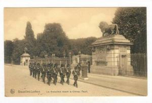 Bruxelles-Laeken , Les Grenadlers devant le Chateau Royal, Belgium, 00-10s