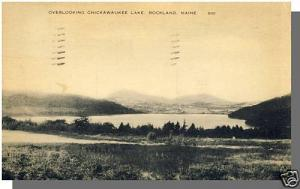 Rockland, Maine/ME Postcard, Overlooking Chickawaukee Lake, 1936!