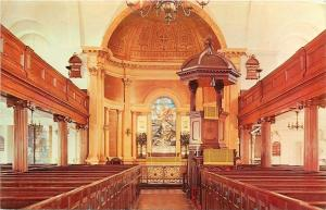 Charleston SC~St Michael's Episcopal Church Interior~Elevated Pulpit~1950s PC