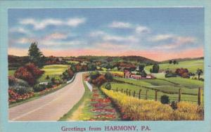 Greetings From Harmony Pennsylvania 1958