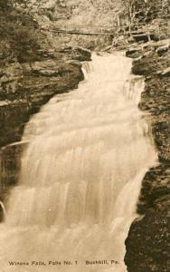 PA - Bushkill. Winona Falls, Falls Number 1  (Albertype)