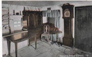Scotland Ayrshire Interior Of Burns Cottage