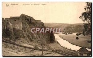 Old Postcard The castle Bouillon and the Semois & # 39abattoir