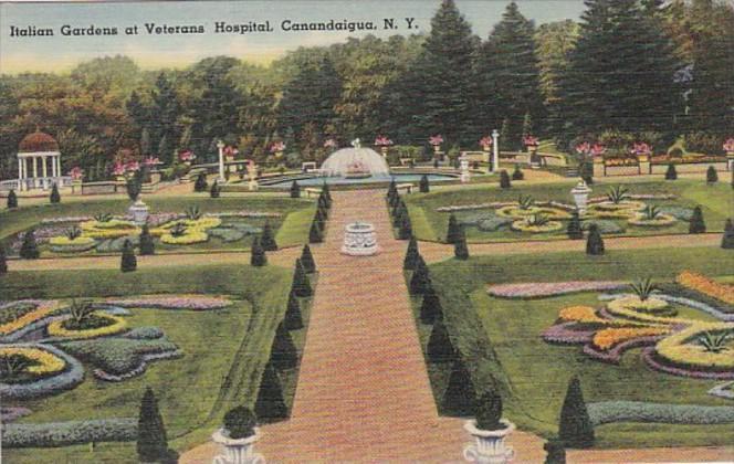 New York Canandaigua Italian Gardens At Veterans Hospital