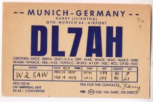 DL7AH, Munich Germany, 1955 & 56