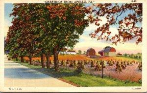 Pennsylvania Greetings From Apollo 1942 Curteich