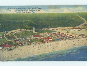 Linen BEACH SCENE Panama City Beach Florida FL AE9454