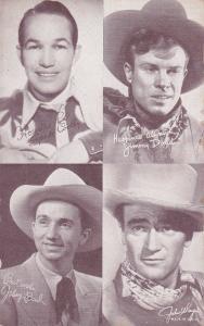 Cowboys: John Wayne, Johnny Baud,Jimmy Dodd, Spade Cooley, 30s