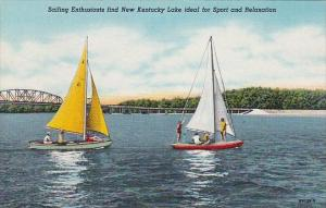 Kentucky Sailing Enthusiasts Find New Kentucky Lake Ideal For Sport And Relax...