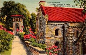 Arkansas Eureka Springs Catholic Church Entered Through Steeple 1947