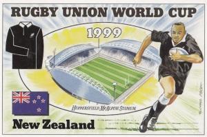 New Zealand Huddersfield McAlpine Stadium Rugby World Cup Postcard