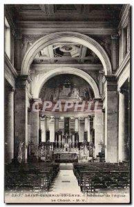 Postcard Old St Germain en Laye Interior of the church choir