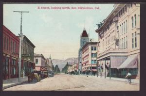 E Street Looking North,San Bernardino,CA Postcard