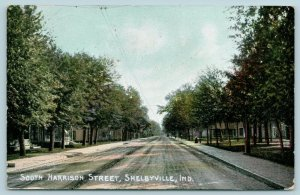 Shelbyville Indiana~South Harrison Street Neighborhood~Homes Both Sides~1907