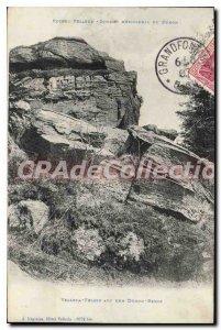 Postcard Old Rocks Velleda Summit southern Du Donon