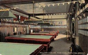 LPS59 Portland Oregon Elks Club Billiard Parlors Pool Tables Postcard