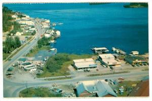 Part of main business street from the air, Red Lake, Ontario, Canada,   40-60s