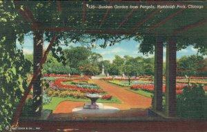 USA Illinois Chicago Sunken Garden from Pergola Humboldt Park 03.78
