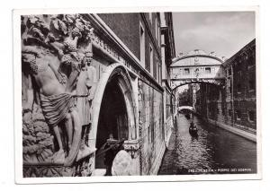 RPPC Venezia Ponte Sospiri 1938 Italy Bridge of Sighs RP