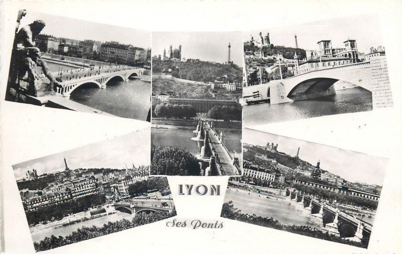 CPSM France LYON ses ponts multi vues bridges
