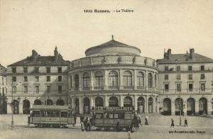 france, RENNES, Le Theatre, Tram (1920s) Theater