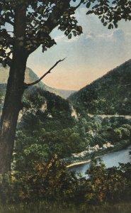 Delaware Water Gap PA Postcard A Glimpse of Mt. Tammany and Mt. Minsi