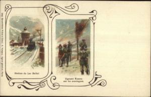 RR Train Station du Lac Baikal Russia c1900 Postcard EXC COND