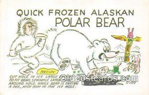 Bears, Vintage Collectable Postcards  Polar Bear